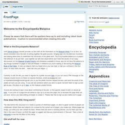 encyclopediamalazica / FrontPage