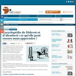 Encyclopédie de Diderot et d'Alembert : ce qu'elle peut encore nous apprendre !