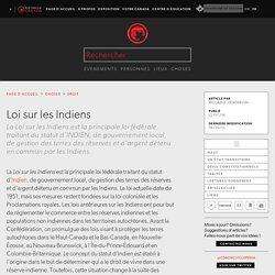 Loi sur les Indiens