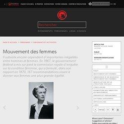 Mouvement des femmes - l'Encyclopédie Canadienne