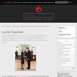 Lucille Teasdale - l'Encyclopédie Canadienne