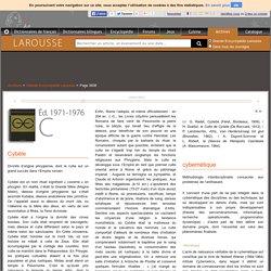 Archive Larousse : Grande Encyclopédie Larousse - Cybèle - cybernétique