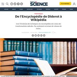 De l'Encyclopédie de Diderot à Wikipédia