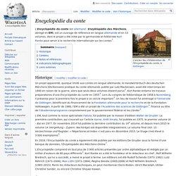 Encyclopédie du conte