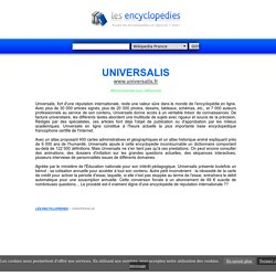 ENCYCLOPEDIE UNIVERSALIS