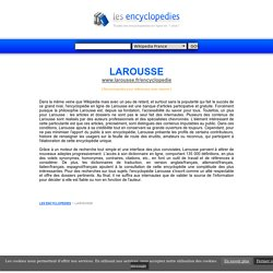 ENCYCLOPEDIE LAROUSSE