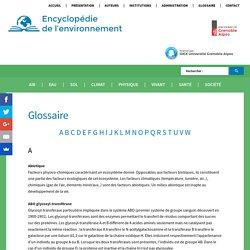 Glossaire - Encyclopédie de l'environnement