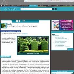 "Larousse : article ""jardin"""