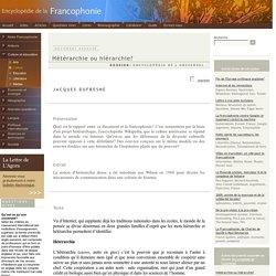 Encyclopédie de la Francophonie