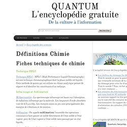Encyclopedie Gratuite - Chimie