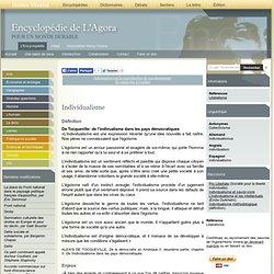 Individualisme Encyclopédie de L'Agora