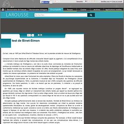 test de Binet-Simon