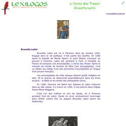 Livre du Tresor, encyclopédie de Brunetto Latini