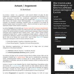 Actant / Argument
