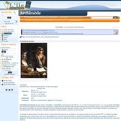 Archimède (encyclopédie mathématiques)