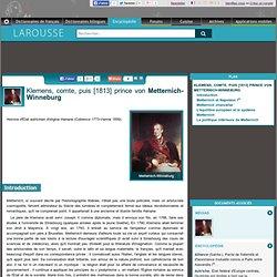 Klemens comte puis 1813 prince von Metternich-Winneburg