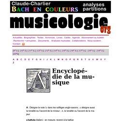 Encyclopédie de la musique index « A »