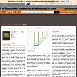 Archive Larousse : Grande Encyclopédie Larousse - Néolithique - Neopilina