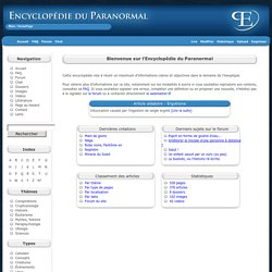 Encyclopdie du paranormal - HomePage