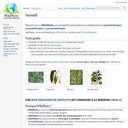 WikiPhyto, l'encyclopédie de la phytothérapie