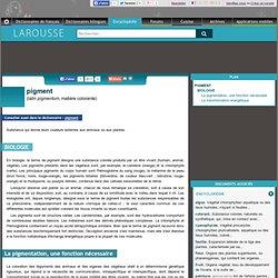 pigment latin pigmentum matière colorante