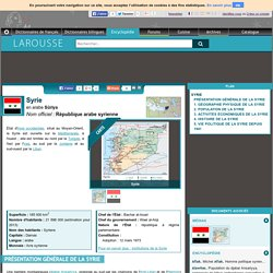 Syrie en arabe Sūriya République arabe syrienne