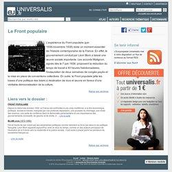 Le Front populaire, dossier du mois -Encyclopédie Universalis