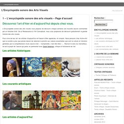 1 – L'encyclopédie sonore des arts visuels « L'Encyclopédie sonore des Arts Visuels