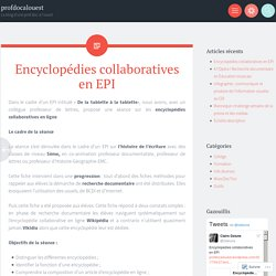 Encyclopédies collaboratives en EPI