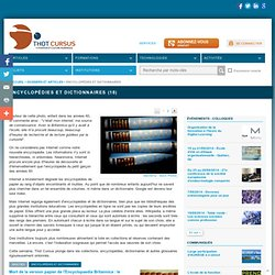 Encyclopédies et dictionnaires