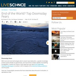 End of the World? Top Doomsday Fears