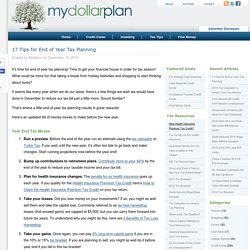 End of Year Tax Planning Checklist