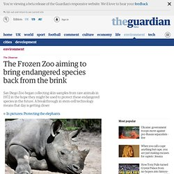 The Frozen Zoo aiming to bring endangered species back from the brink