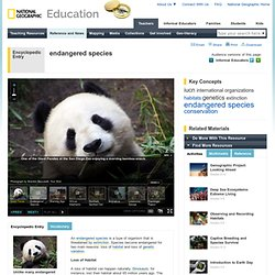 National Geographic: Endangered species