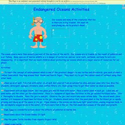Endangered Oceans lesson plan