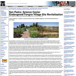 San Pedro: Science Center Endangered/Tongva Village Site Revitalization : LA IMC