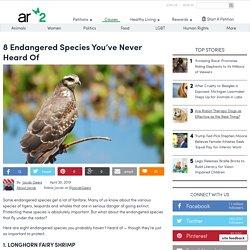 8 Endangered Species You've Never Heard Of