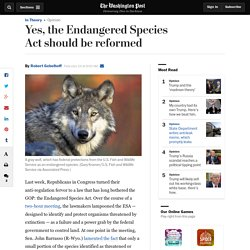 Yes, the Endangered Species Act should be reformed