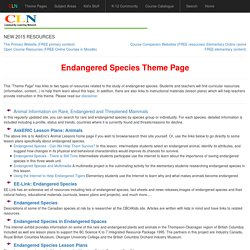 Endangered Species Theme