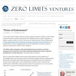 """Firms of Endearment"" » zerolimitsventures.com"