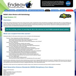 NASA Endeavor STEM Teaching Certificate Project. Live, online STEM education courses as part of a STEM Master's Degree or STEM Certificate.