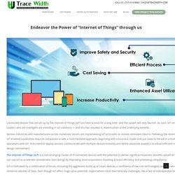 """Endeavor the Power of """"Internet of Things"""" through us"""