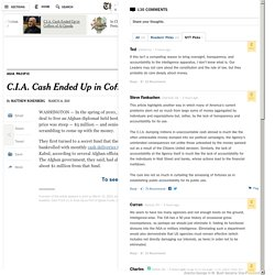 C.I.A. Cash Ended Up in Coffers of Al Qaeda