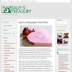 open-ended paper heart box