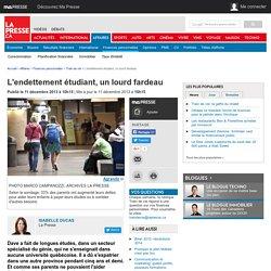 L'endettement étudiant, un lourd fardeau (La Presse)
