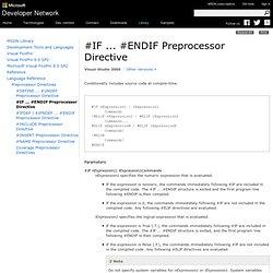 Preprocessor Directive