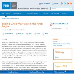 Ending Child Marriage in the Arab Region