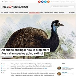 An end to endings: how to stop more Australian species going extinct