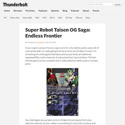 Super Robot Taisen OG Saga: Endless Frontier - DS review at Thunderbolt Games