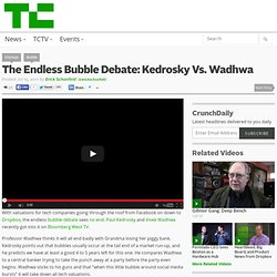 The Endless Bubble Debate: Kedrosky Vs. Wadhwa